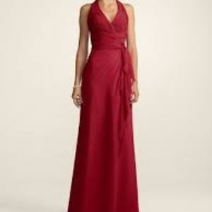 Size 10 David's Bridal halter red dress
